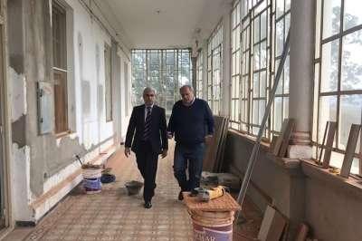 Hotel Termas de Rosario: avanzan las obras para finalizar con la puesta en valor