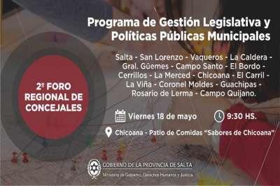 En Chicoana se realizará hoy el segundo foro regional de concejales