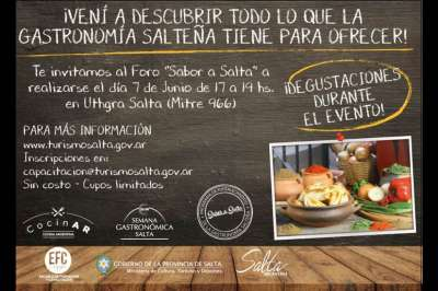 "Semana Gastronómica: hoy se realizará el Foro ""Sabor a Salta"""