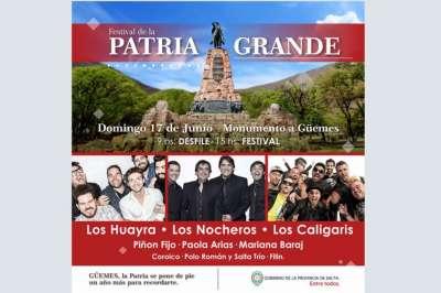 El domingo, una nueva edición del festival de la Patria Grande
