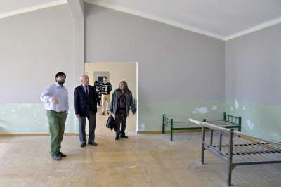 Bustos Rallé destacó el avance de obra en el hogar Michel Torino
