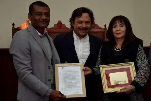 El intendente Gustavo Sáenz recibió con honores a Susana Trimarco